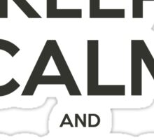 NodeJS Keep Calm and Node On Sticker