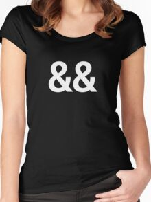 ampersand && - logical AND - coding Women's Fitted Scoop T-Shirt