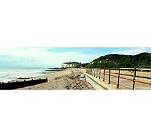 Kingsdown - The Beach & Cliffs Photographic Print