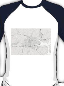 Cork, Ireland Map. (Black on white) T-Shirt