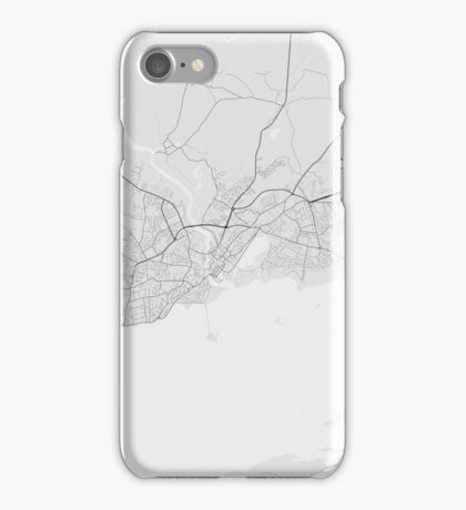 Galway, Ireland Map. (Black on white) iPhone Case/Skin