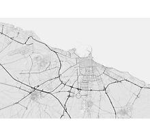 Bari, Italy Map. (Black on white) Photographic Print