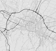 Bologna, Italy Map. (Black on white) by Graphical-Maps