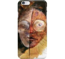 face with glasses iPhone Case/Skin