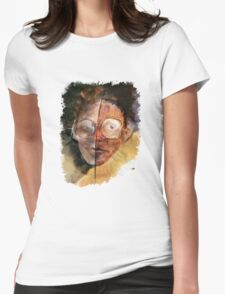 face with glasses Womens Fitted T-Shirt