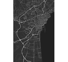 Catania, Italy Map. (White on black) Photographic Print