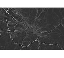 Florence, Italy Map. (White on black) Photographic Print