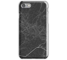 Florence, Italy Map. (White on black) iPhone Case/Skin