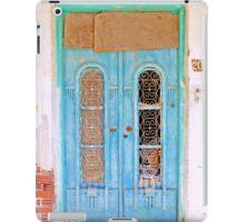 the turquoise door iPad Case/Skin