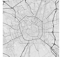 Milano, Italy Map. (Black on white) Photographic Print