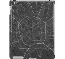 Milano, Italy Map. (White on black) iPad Case/Skin