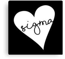 Heart Sigma Canvas Print