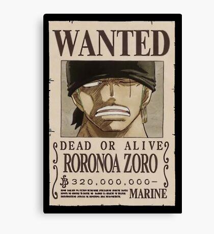 <ONE PIECE> Roronoa Zorro Wanted Canvas Print