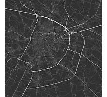 Padua, Italy Map. (White on black) Photographic Print
