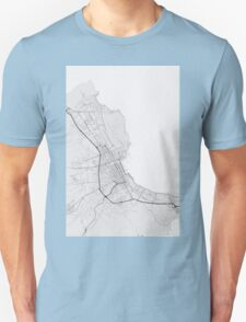 Palermo, Italy Map. (Black on white) T-Shirt
