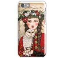 The girl and the snow owl iPhone Case/Skin