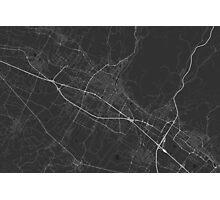 Prato, Italy Map. (White on black) Photographic Print