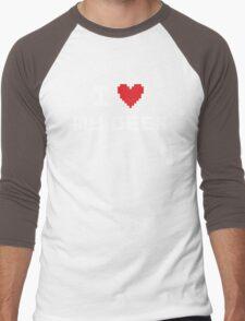 I Love My Geek Men's Baseball ¾ T-Shirt