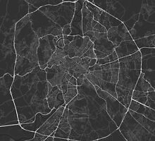 Rome, Italy Map. (White on black) by Graphical-Maps