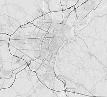 Turin, Italy Map. (Black on white) by Graphical-Maps