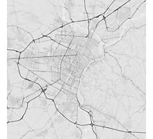 Turin, Italy Map. (Black on white) Photographic Print