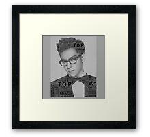 Big Bang - T.O.P Framed Print