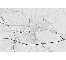 Verona, Italy Map. (Black on white) Photographic Print