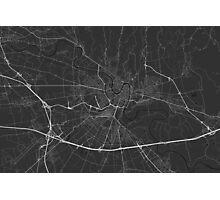 Verona, Italy Map. (White on black) Photographic Print