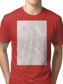 Riga, Latvia Map. (Black on white) Tri-blend T-Shirt