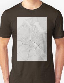 Riga, Latvia Map. (Black on white) Unisex T-Shirt