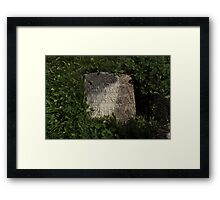 ancient gravestone Framed Print