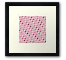 Retro Ice Cream & Drugs Pattern Only (Pink) Framed Print