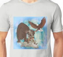 Love your (spirit) Animals w/ bg Unisex T-Shirt