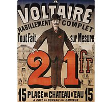 Vintage poster - A Voltaire Photographic Print