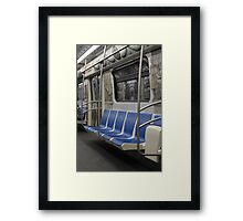 subway train in St. Petersburg Framed Print