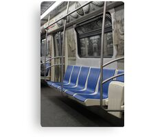 subway train in St. Petersburg Canvas Print