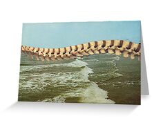 Blue Skies and Rolling Surf - Ocean City, New Jersey Greeting Card