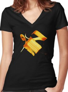 """""""Air"""", """"Atmosphere"""" in Arabic Women's Fitted V-Neck T-Shirt"""