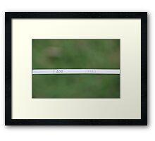 The Dipstick Framed Print