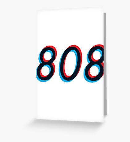 Modern Electronic - 808 Greeting Card