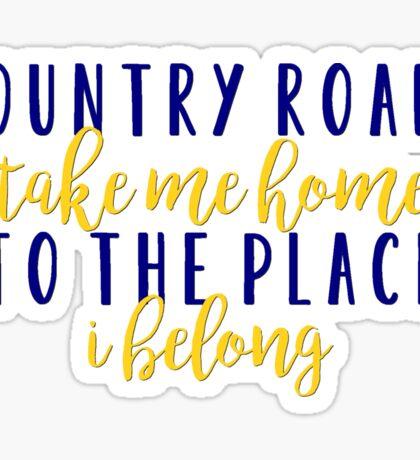 Country Roads Sticker