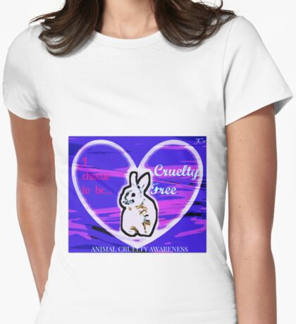 I choose Cruelty Free  Womens Fitted T-Shirt