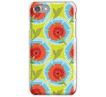 Poppies (Green) iPhone Case/Skin