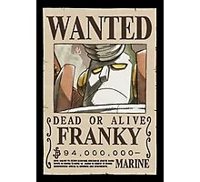 <ONE PIECE> Franky Wanted Photographic Print