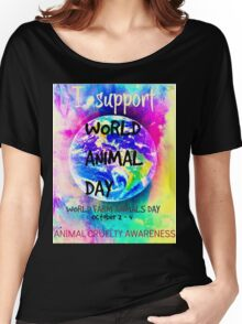 World Animal Day  Women's Relaxed Fit T-Shirt