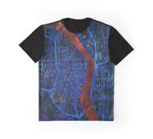 Dark map of Portland city center Graphic T-Shirt