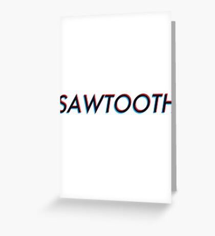 Modern Electronic - Sawtooth Greeting Card