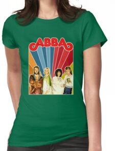 ABBA restored EPIC 70's mega poster design. Made with love by ISNPIRINGPEOPLE! Womens Fitted T-Shirt