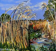 Hidden Life in the Swamp by Gidja Walker (Phragmites australis) Set 1 of 3 by TootgarookSwamp