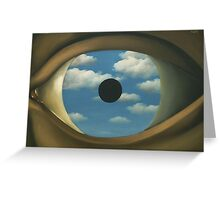 The False Mirror - Magritte Greeting Card